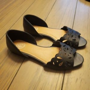 SO | Black Flats with Cutouts